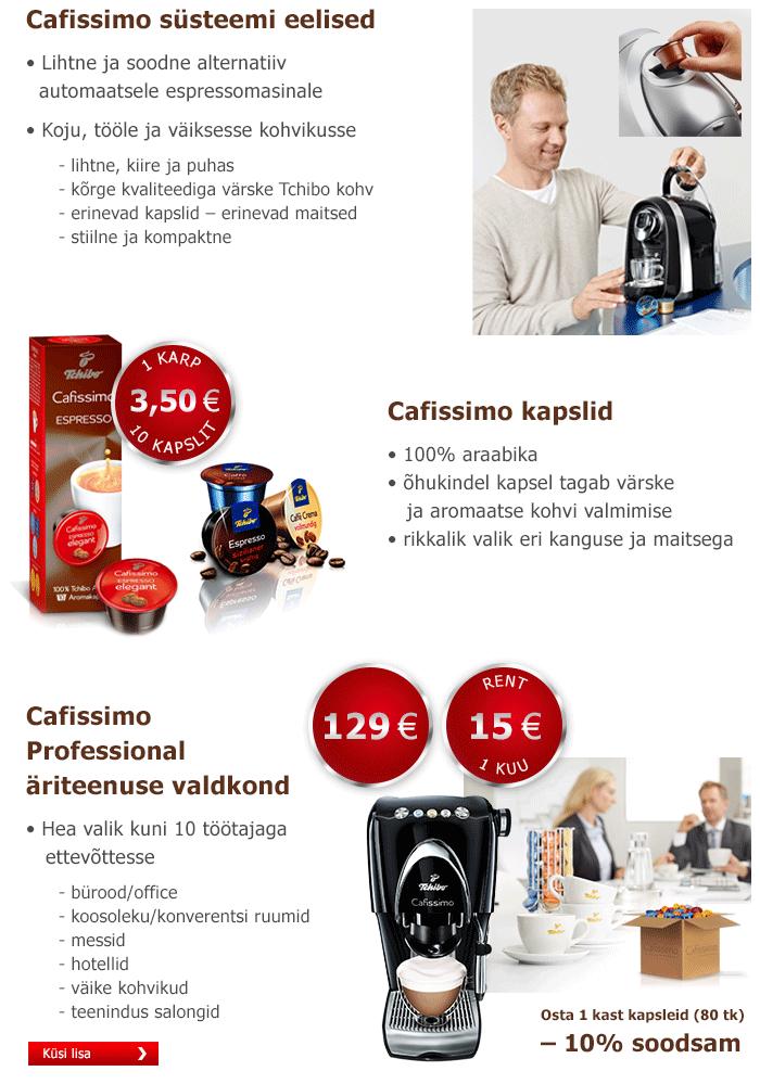 Caffissimo kapselkohvimasinad