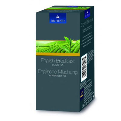 SIR HENRY must tee English Breakfast 25pk