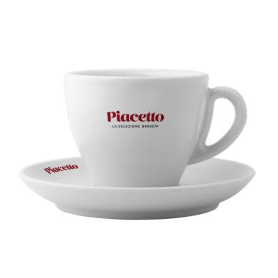 Cappuccino tass alustaldrikuga PIACETTO 340ml