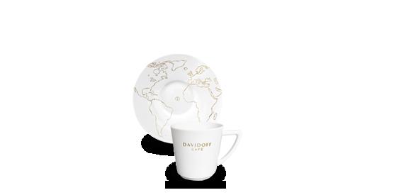 DAVIDOFF cafe latte tass alustaldrikuga 310ml 1