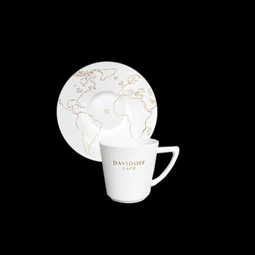 DAVIDOFF espressotass alustaldrikuga 85ml 3