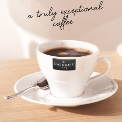 DAVIDOFF cafe latte tass alustaldrikuga 310ml