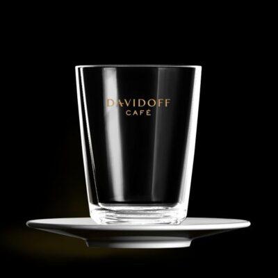 Cafe Latte klaas alustaldrikuga DAVIDOFF  265ml