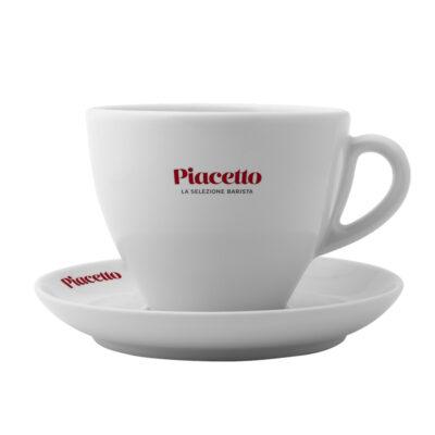 Caffe Latte kohvitass alustaldrikuga PIACETTO 480ml
