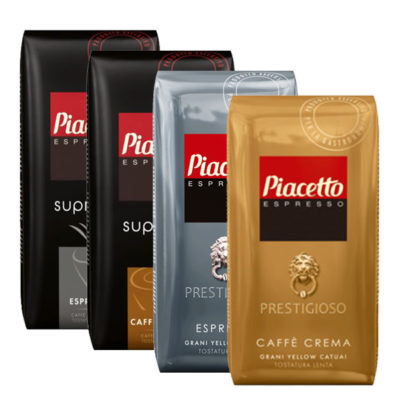 PIACETTO kohviubade degusteerimiskomplekt 4 x 1000g
