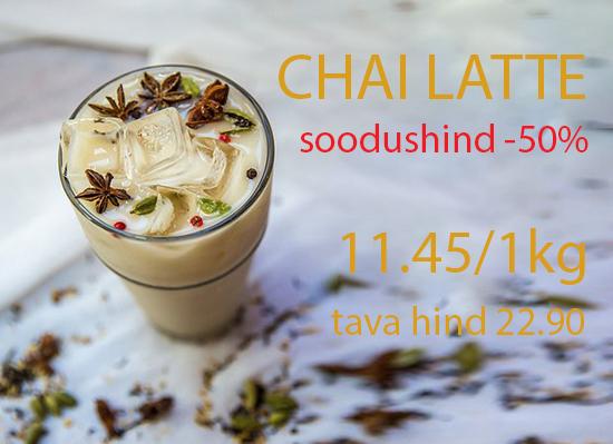 Chai Latte soodushinnaga - 50%