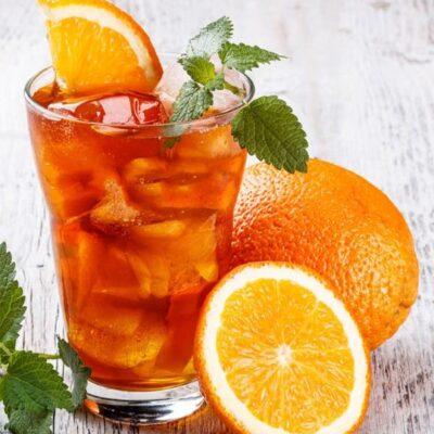 Apelsini suvejook jääga
