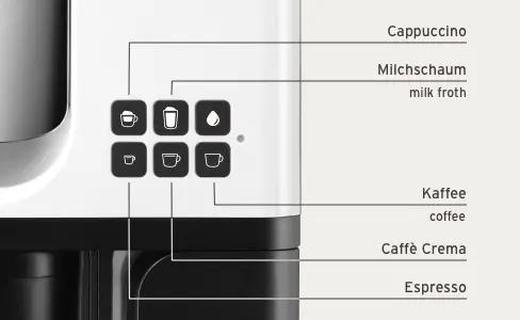 Suurepärane valik ühe nupuvajutusega Hommikul Caffè crema, lõuna ajal espresso ja pärastlõunal klassikaline kohv? Piisab ühest nupuvajutusest! Cafissimo abil saate alati nautida oma lemmikkohvi ideaalselt valmistatud ja parima Tchibo kvaliteediga. Suur nauding on nii lihtne.