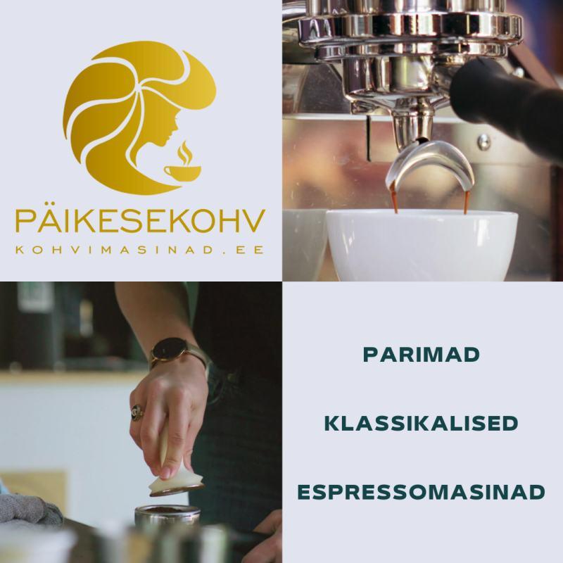 Espressomasinad Päikesekohvis